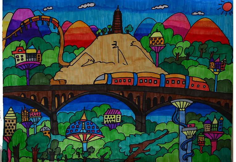 申悦彤《延安未来的森林城市》图片